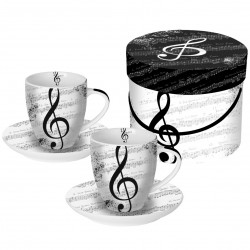 ESPRESSO Cup Set Gift Box I Love Music PPD